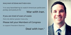 A message supporting diplomacy with Iran from Spring 2015.